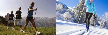 Нордическая (скандинавская) ходьба превосходит быструю ходьбу без палок, а в некоторых случаях даже лучше, чем бег трусцой.